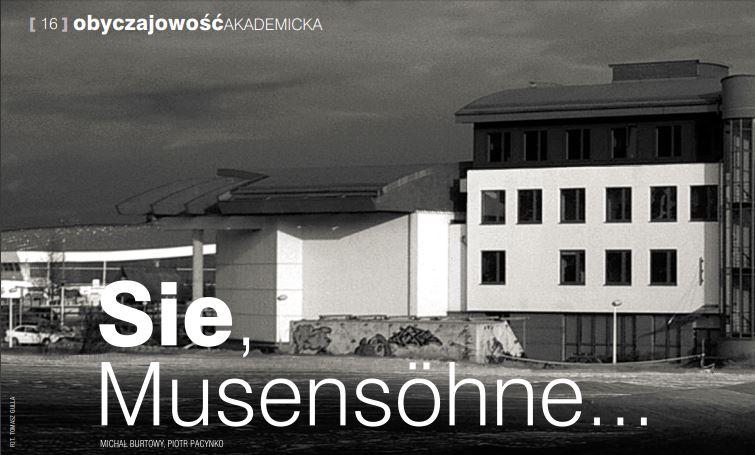 """""""Sie, Musensöhne…"""""""