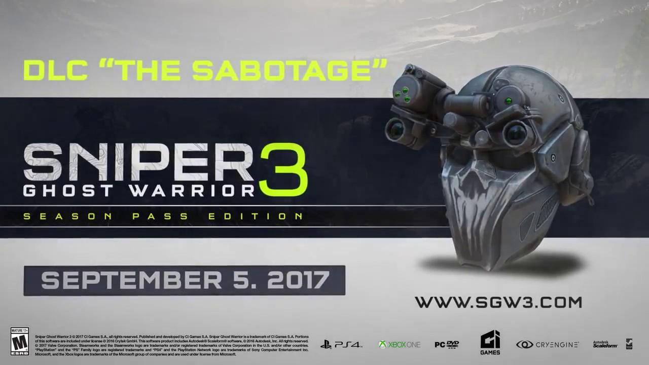 """Sniper Ghost Warrior 3 """"The Sabotage"""" DLC"""